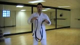 Tie a karate belt