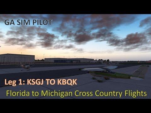 X-plane 11 Florida to Michigan Cross Country Leg 1