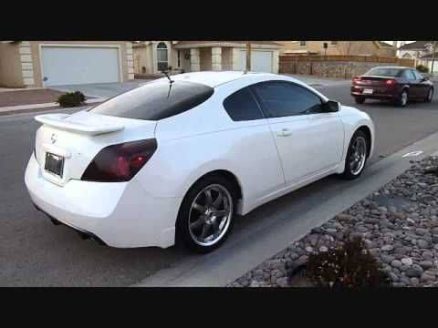 2008 White Nissan Altima Coupe On 18 Quot Gunmetal Volk Wheels