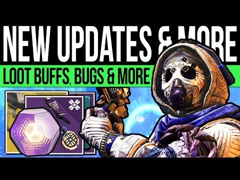 Destiny 2 | DLC NEWS UPDATES! Drop BUFF, Exotic Changes, Artifact Glitch, Xur Bug, Rewards & More!