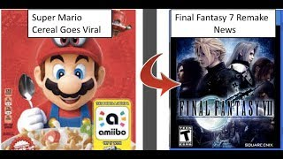 Videogame News #1 Super Mario Cereal Goes Viral and More