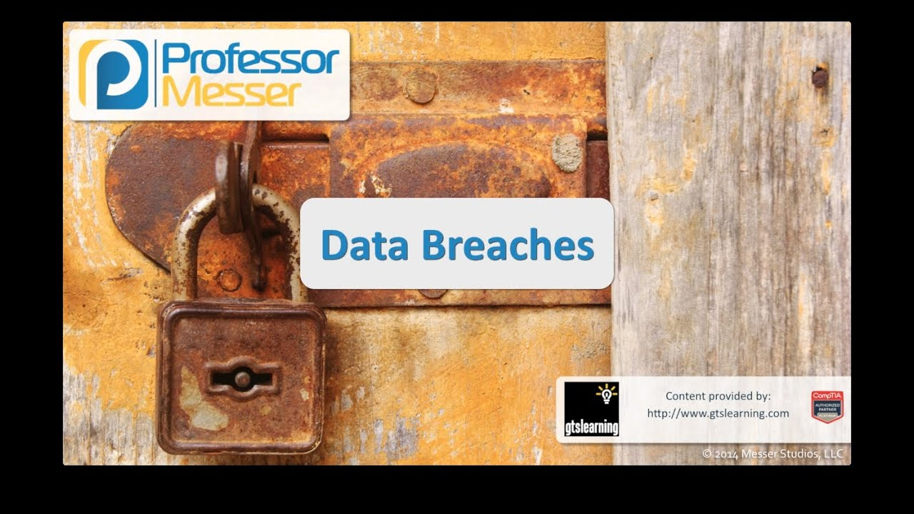 Data Breaches - CompTIA Security+ SY0-401: 2.5