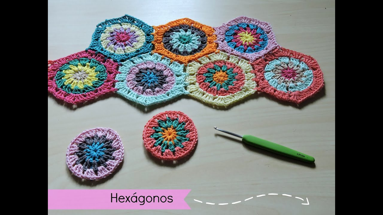 Cómo hacer y unir hexágonos de ganchillo - How to make crochet ...