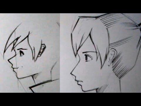 видео: Как рисовать аниме в профиль