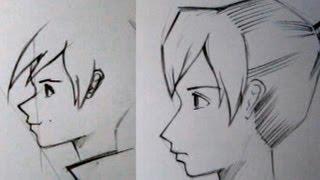 Как рисовать аниме в профиль(Довольно детально рассказываю как я рисую профиль персонажа., 2013-09-06T11:22:50.000Z)