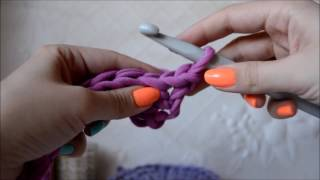 Вязание крючком. Вязание для начинающих. Вязание из трикотажной пряжи. Как вязать.