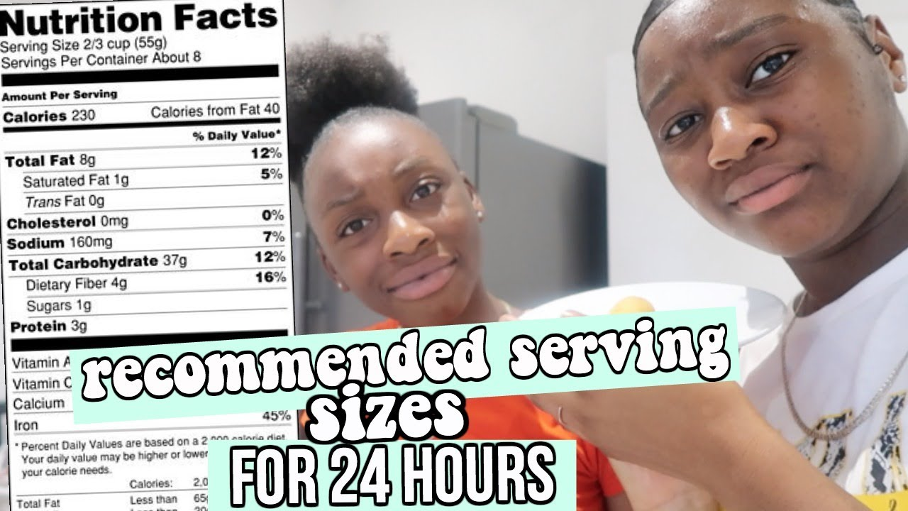 EATING ONLY The RECOMMENDED SERVING SIZES Of Food for 24 HOURS!