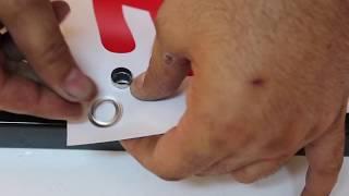 Πως περνάμε τρούκ σε μουσαμά με την πρέσα χειρός HAND1