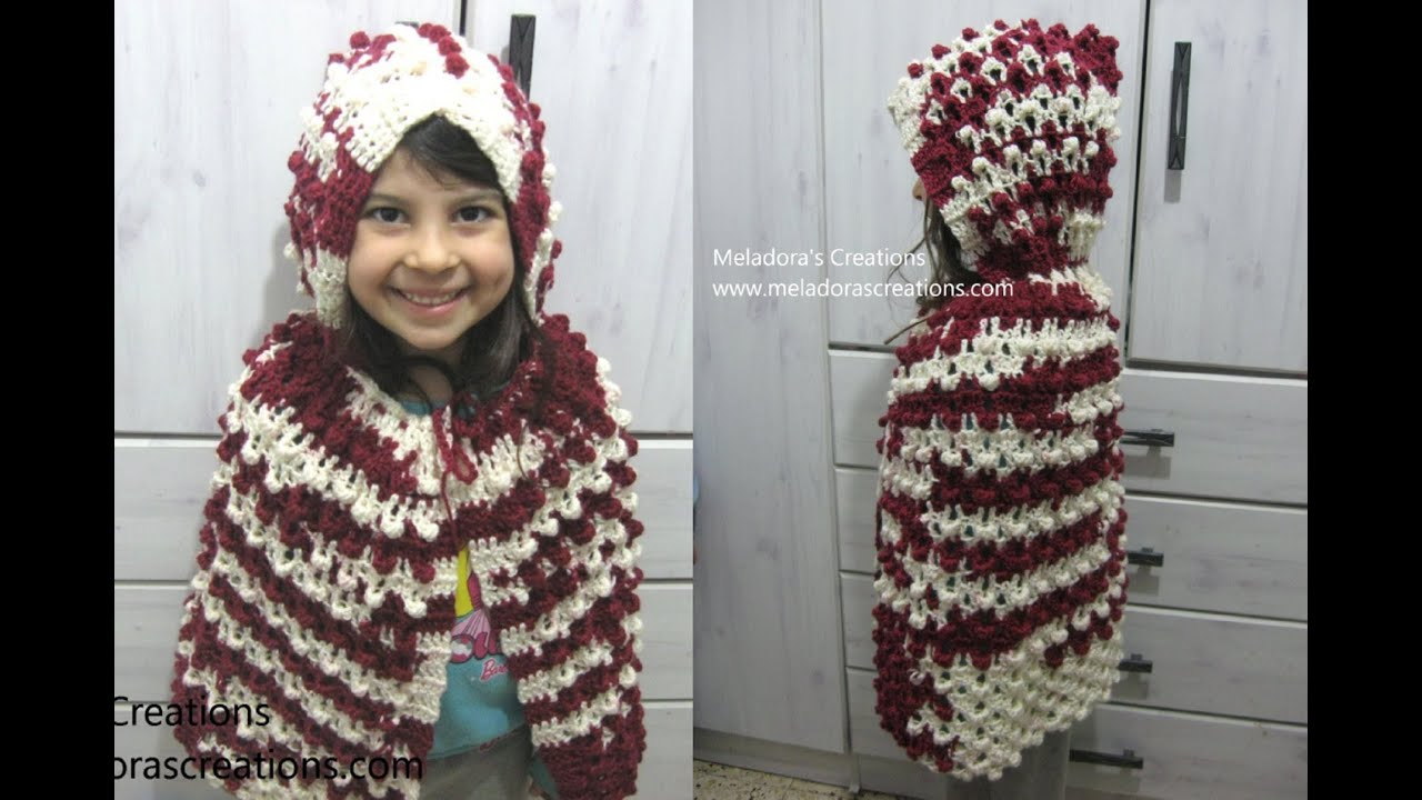 Red Riding Hood - Cape and Hood - Crochet Tutorial - YouTube