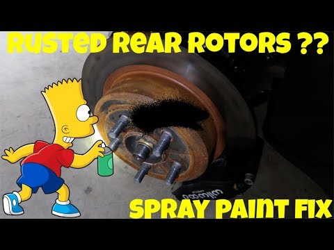 Rear Rotor Rust ?? Spray Paint Solution !!