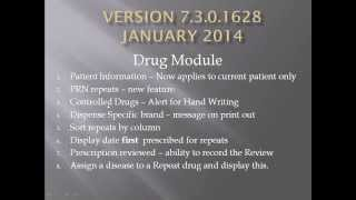 Version 3 0 1629 Introduction. Changes to Drug Module 2014
