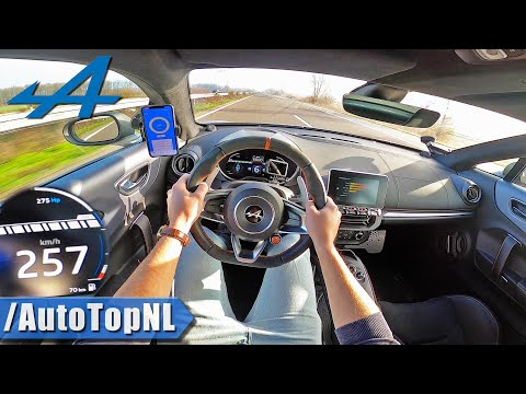 ALPINE A110S TOP SPEED on AUTOBAHN (NO SPEED LIMIT) by AutoTopNL