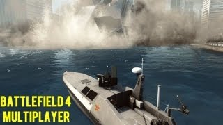 Battlefield 4 Multiplayer NEW Gameplay! Skyscraper Collapse Tsunami Jet Ski Boat