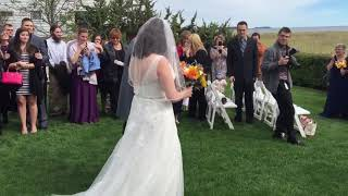 Dad Surprises Daughter by Walking Her Down the Aisle at Her Wedding