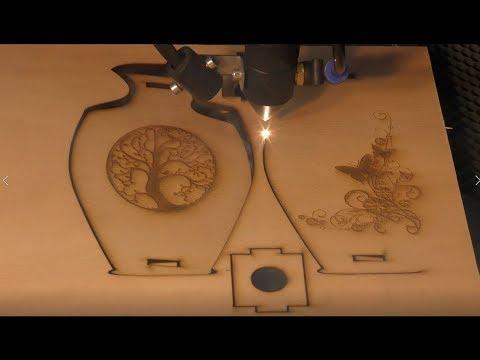 100 watt laser making $16,000 per week making 3D vase 25 units per hour