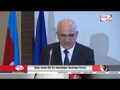 AzerTac_Baku hosts 5th EU-Azerbaijan Business Forum