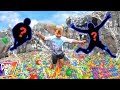 GIANT BALL PIT SWIMMING POOL ADVENTURE WITH SURPRISE GUESTS!!