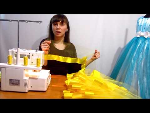 How to sew a pack of Skirt of tulle and satin ribbon Master Class Make yourself Heid Maid