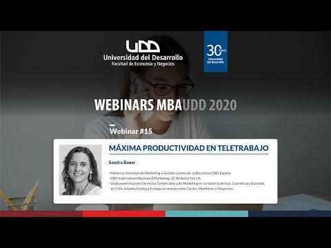Webinar MBA #15: Máxima Productividad en Teletrabajo - Sandra Bauer