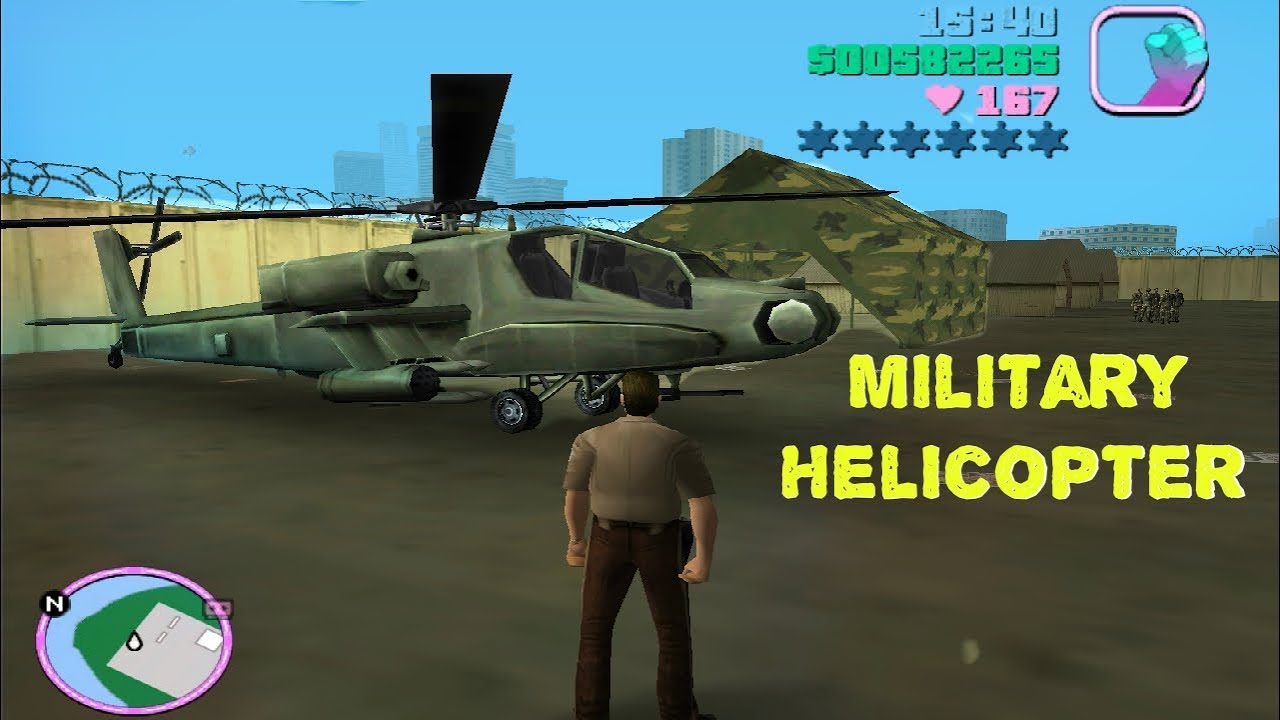 Gta Vice City Army Helicopter Hunter Youtube