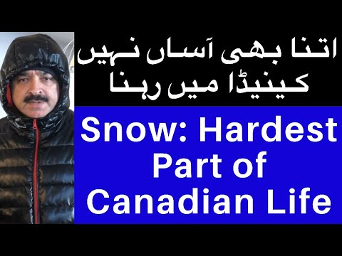 Snow: Hardest Part of Canadian Life But Canada Is Still Beautiful | Israr Kasana | JNN