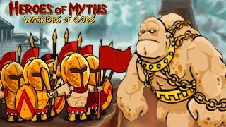 300 Phalanx Army Vs Giant Boss! - Heroes Of Myths PART 1