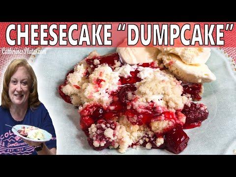 strawberry-cheesecake-dump-cake-recipe-|-4-ingredient-bake-with-me-dump-cake