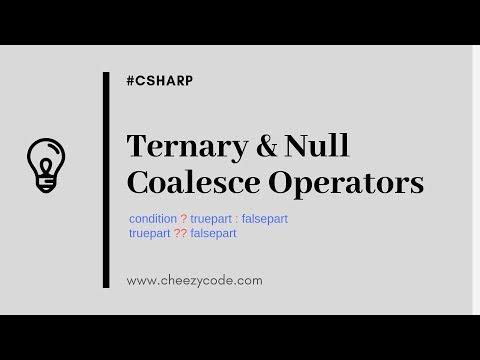 Ternary Operator | Null Coalesce Operator | C# Tutorial