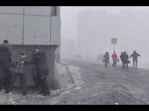 Черная пурга в Норильске. январь 2017 г.