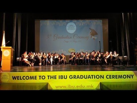 IBU Graduation Ceremony 2015
