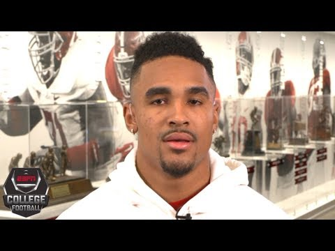 Jalen Hurts on taking over for Tua Tagovailoa, College Football Playoff   College Football