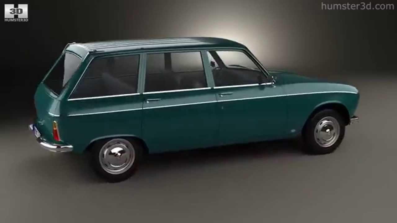 Peugeot 204 break 1966 by 3D model store Humster3D.com ...  Brak