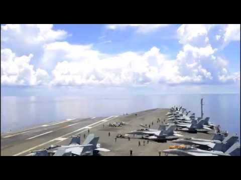 Time lapse USS Ronald Reagan Flight Operations South China Seas