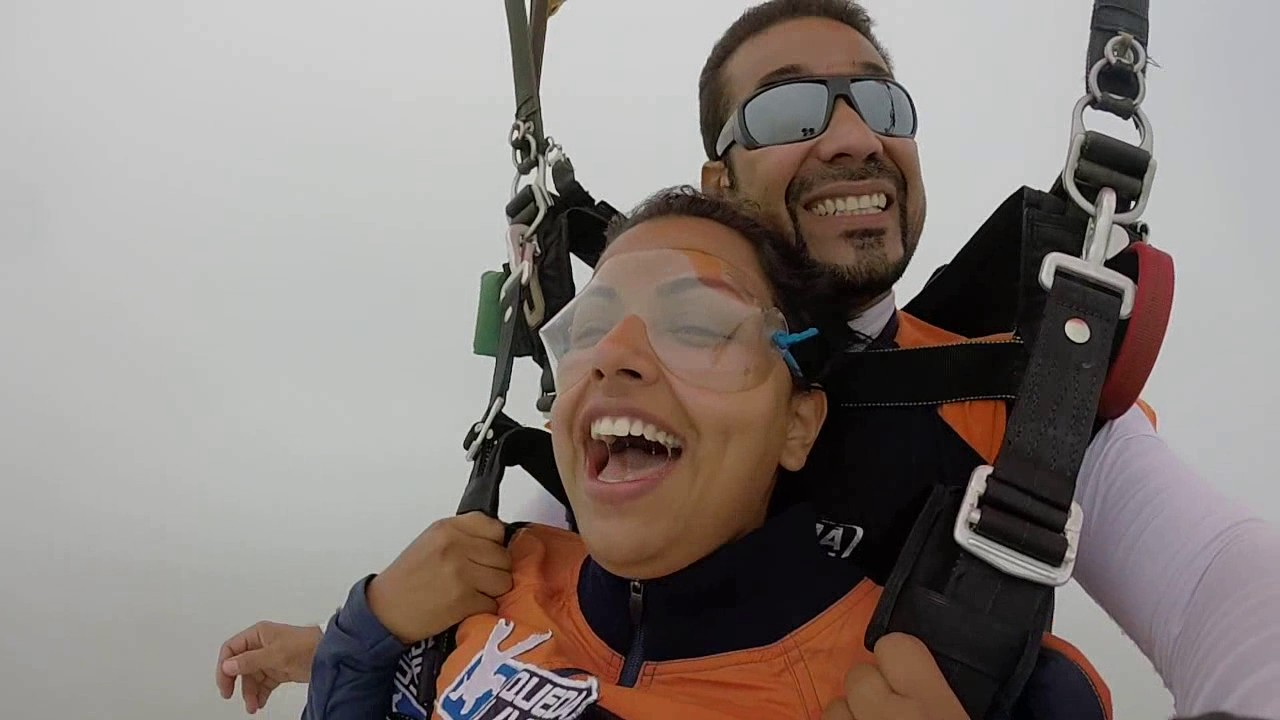 Salto de Paraquedas da Angra na Queda Livre Paraquedismo 15 01 2017