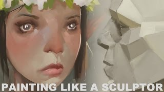 Painting like a Sculptor