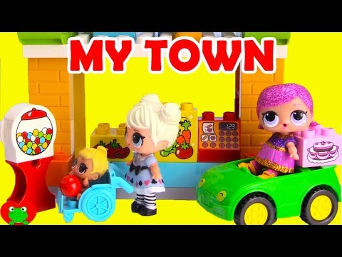 LOL Surprise Dolls Glitter My Town Lego Duplo Build