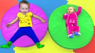 Playground song with Dad, Stefy and Dasha | Kids Songs
