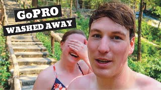 Chiang Mai STICKY Waterfalls | LOST our GoPRO | Swimming in Thailand Water