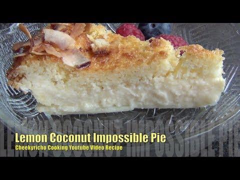 Lemon Coconut Impossible Pie, cheekyricho cooking video recipe ep.1,246