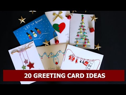20 DIY Handmade Christmas Card Idea for Special Occasions/Greeting Cards Crafts By Aloha Crafts