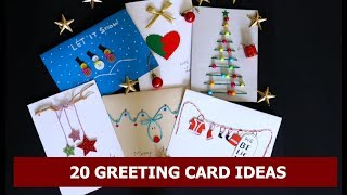 #holidaycards #greetingcards # CardTutorial 20 GREETING CARD IDEAS | Aloha Crafts