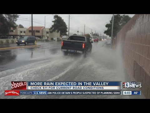 UPDATE: Heavy rain hits Las Vegas valley