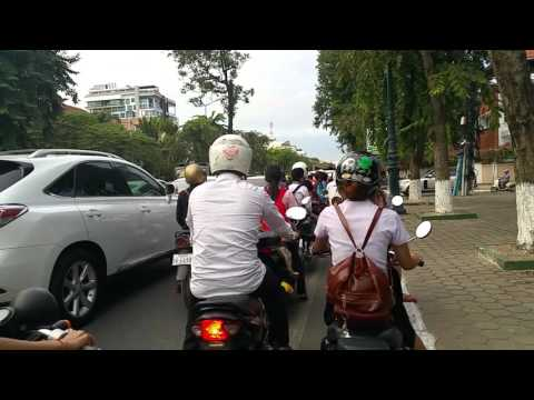 Cambodia- Traffic on a holiday in Phnom Penh
