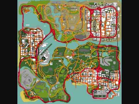 GTA Sa Traffic map