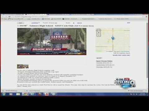 Saguaro High School up for sale?