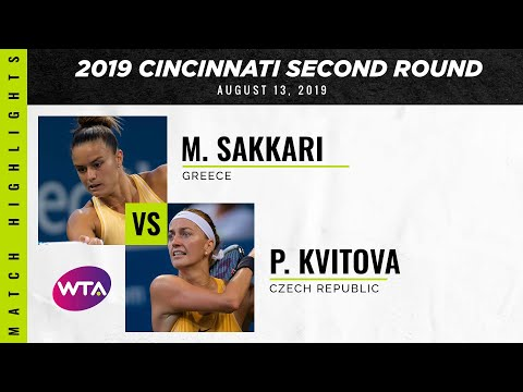 WTA Cincinnati round 2 | Maria Sakkari vs. Petra Kvitova | Highlights