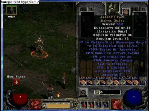 My WW Barb and Merc's Gear  Diablo 2 LOD