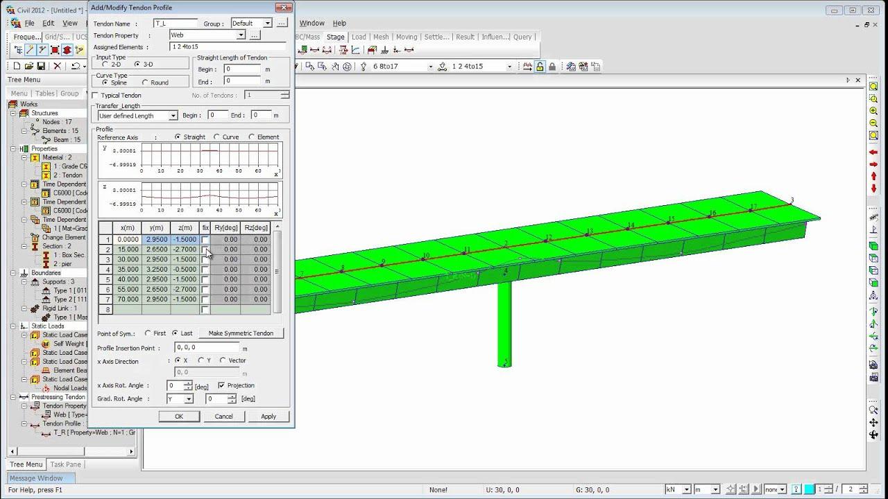Psc Box Girder Bridge Analysis Youtube