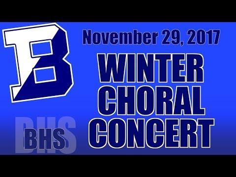 BHS Choral Concert November 29, 2017