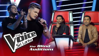 Dineth Wijesooriya -  Koombiyo (කූඹියෝ) | Blind Auditions | The Voice Sri Lanka